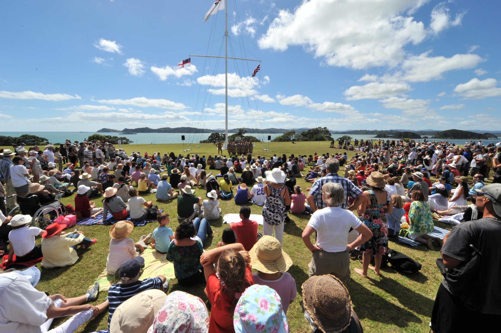 Crowds at Waitangi Day