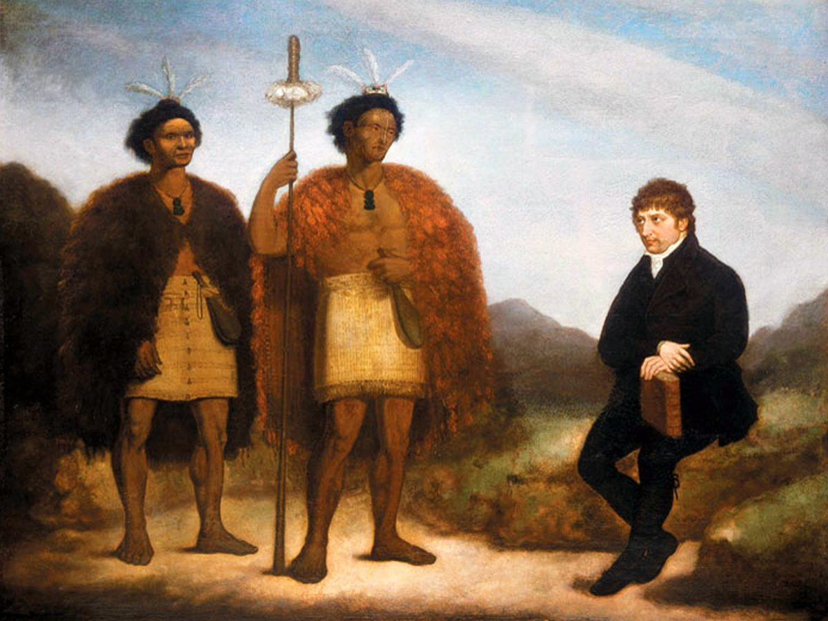 The_Rev_Thomas_Kendall_and_the_Maori_chiefs_Hongi_and_Waikato,_oil_on_canvas_by_James_Barry,